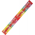 Rainbow Coloured Glittery &quot;Happy Birthday&quot; Banner